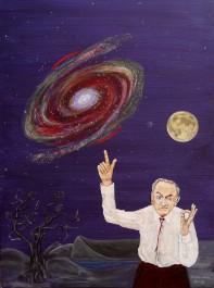 Fritz Zwicky - Astrophysiker - erklärt den Einsteinring und die Wirkung der Dunklen Materie